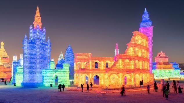 بالصور: أكبر مهرجان عالمي للنحت على الثلج سيبدأ أعماله في الصين