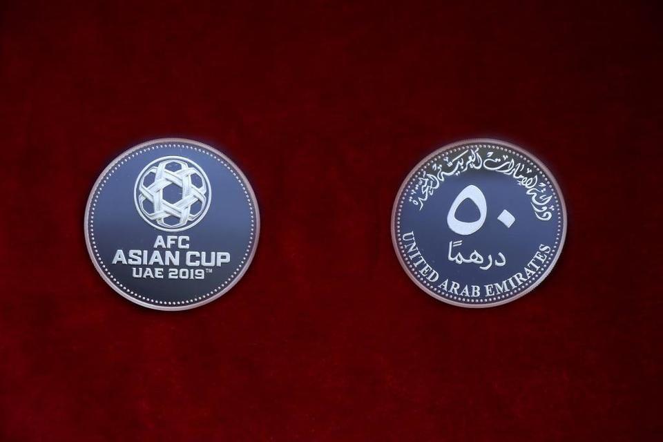 المصرف المركزي يطرح مسكوكة تذكارية بمناسبة إستضافة الإمارات بطولة كأس آسيا