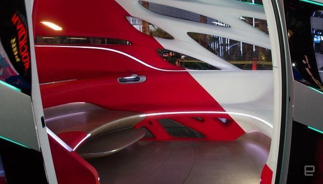 بالصور : مرسيدس تستعرض مركبة ذاتية القيادة