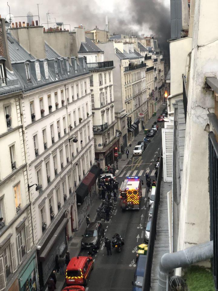 بالصور : 4 قتلى في انفجار قوي وسط باريس