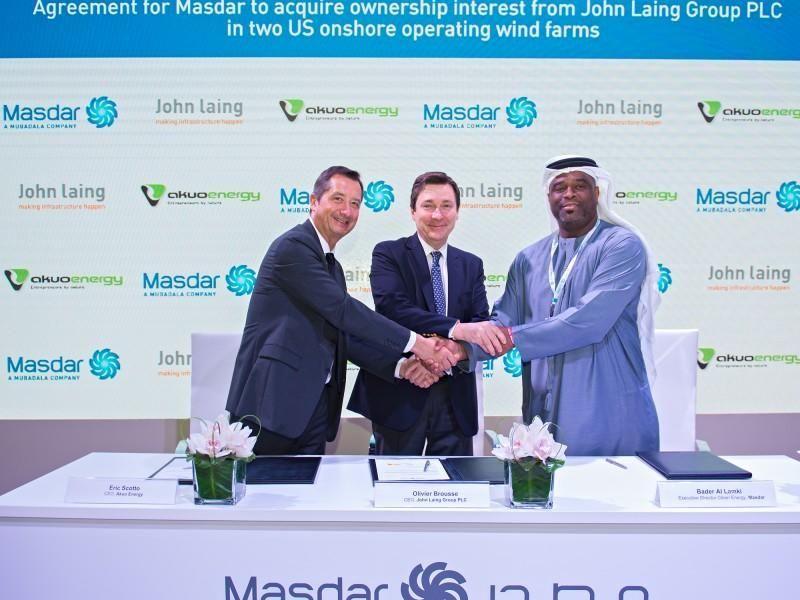 شركة مصدر الإماراتية تتفق على شراء حصص في محطتين لطاقة رياح في أمريكا