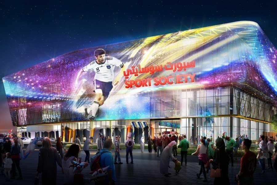 دبي: تقدم الأعمال الإنشائية في أكبر مول رياضي في العالم