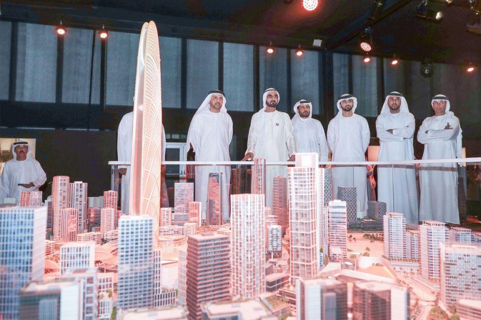 محمد بن راشد يطلق «برج جميرا» و يتفقد موقع تشييده بمنطقة الصفوح