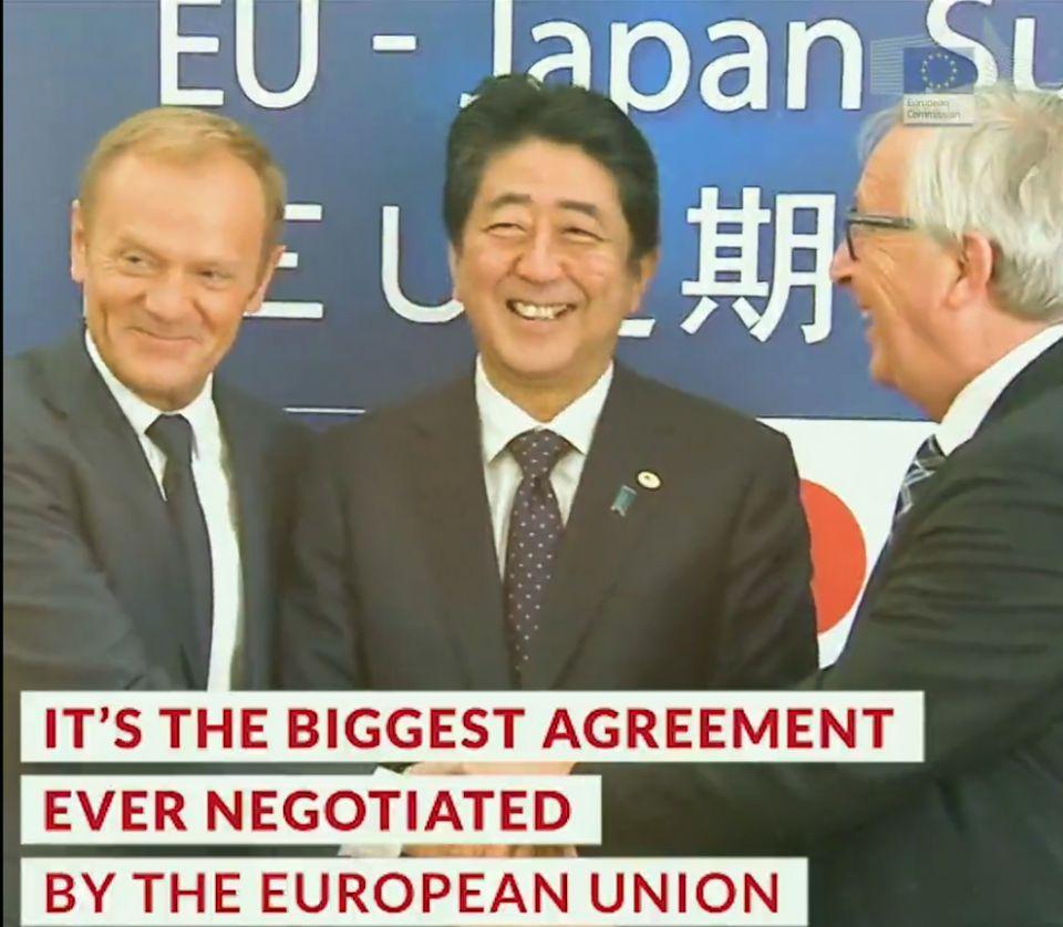 تأسيس أكبر منطقة تجارية في العالم بين اليابان والاتحاد الأوروبي