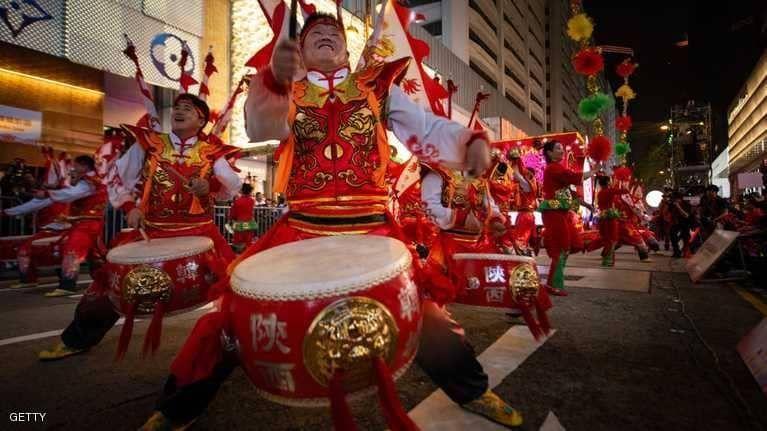 بالصور : الصين تشهد أضخم الاحتفالات لاستقبال عام الخنزير الجديد
