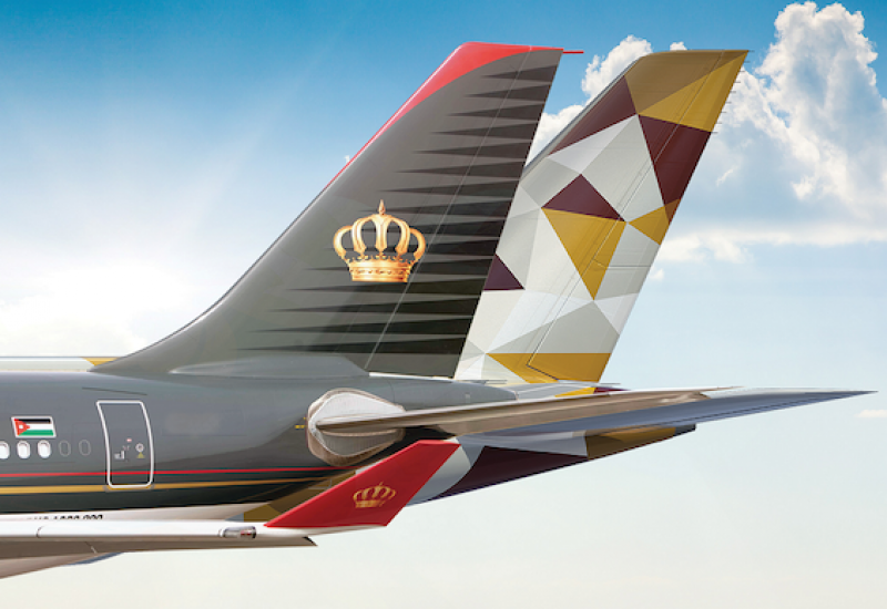 الاتحاد للطيران والملكية الأردنية  توقعان اتفاقية الرمز المشترك