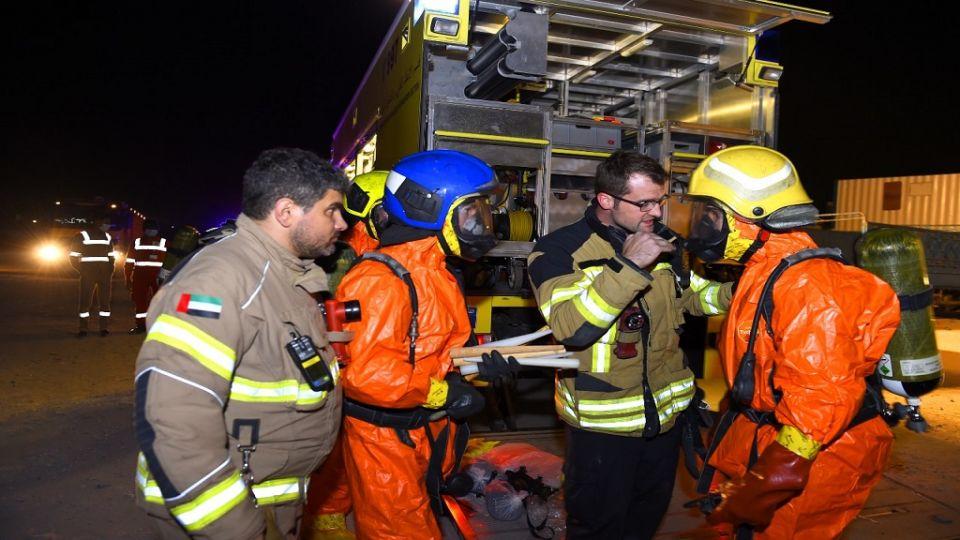 وفاة شخص وإنقاذ 93 آخرين من حادث تسرب غاز في الشارقة