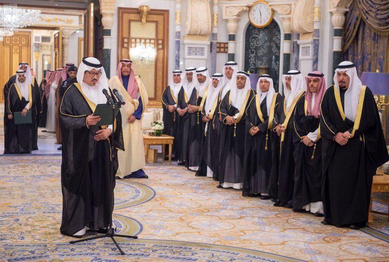 شاهد تركي  الدخيل يؤدي القسم سفيراً للمملكة العربية السعودية لدى الإمارات