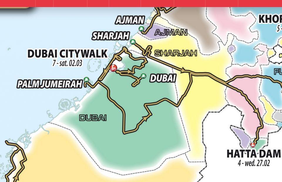 دبي: إغلاق مؤقت لبعض الطرق مع انطلاق سباق طواف الإمارات
