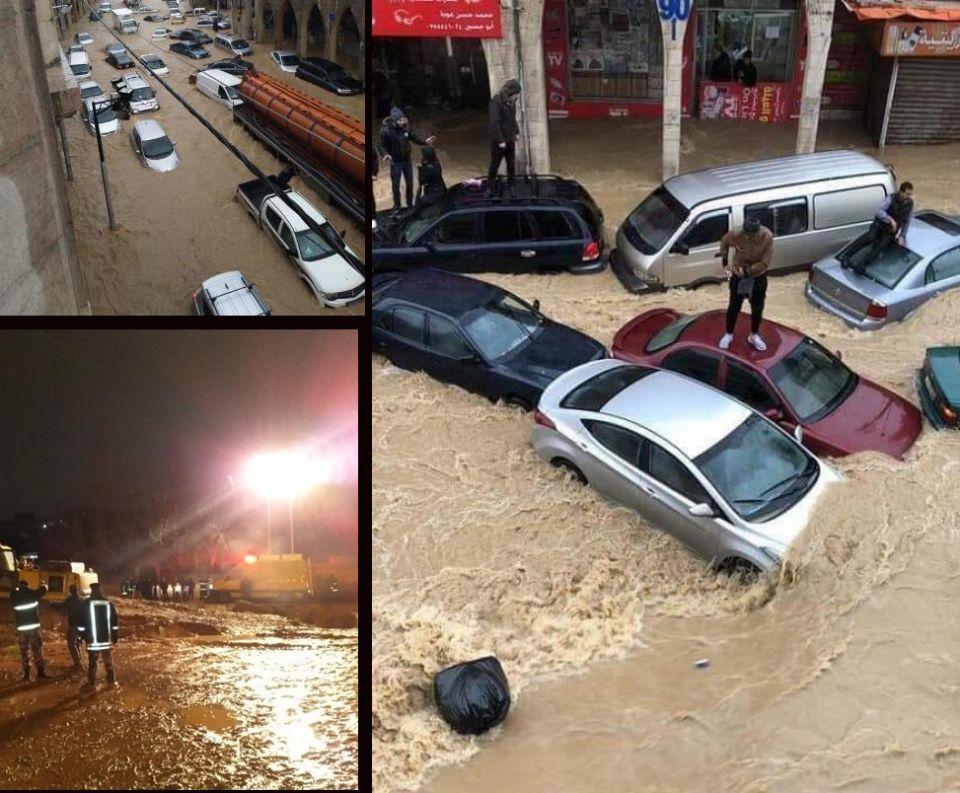فيضانات وأجواء ثلجية في دول بلاد الشام