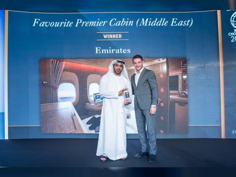 طيران الإمارات تنال جائزة أفضل درجة أولى ورجال أعمال في الشرق الأوسط