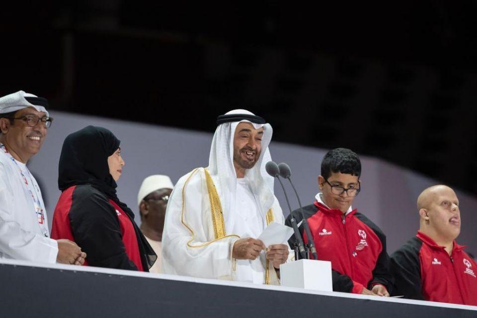 محمد بن زايد يفتتح دورة الألعاب العالمية للأولمبياد الخاص أبوظبي 2019