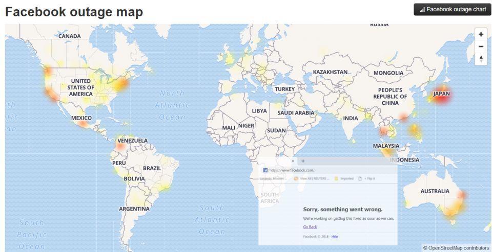 أكبر عطل في تاريخ فيسبوك يحبط مشتركيه حول العالم