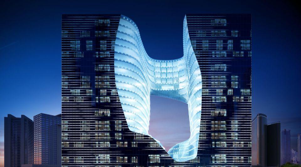 شاهد تصميم زها حديد ضمن برج ذي أوبس في دبي