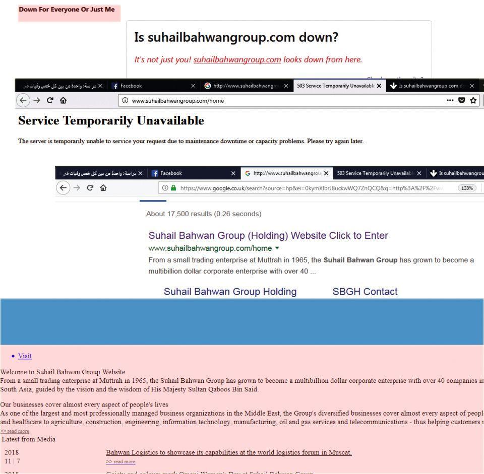 تعطل موقع إنترنت لمجموعة عمانية مرتبطة بقضية كارلوس غصن