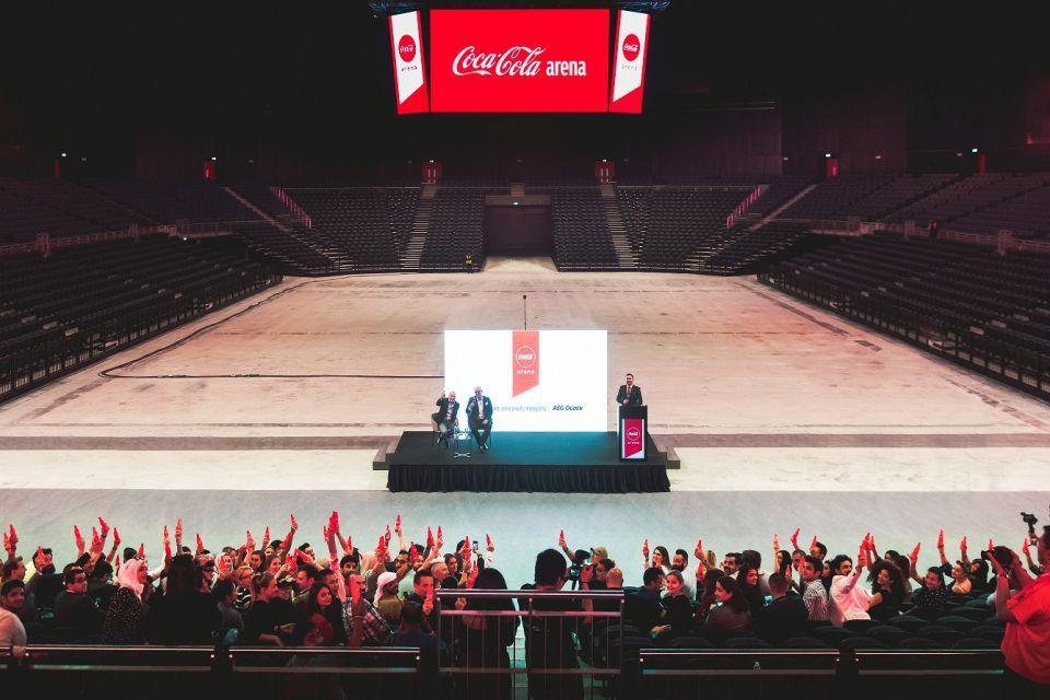 بالصور : نظرة أولى على كوكا كولا أرينا دبي
