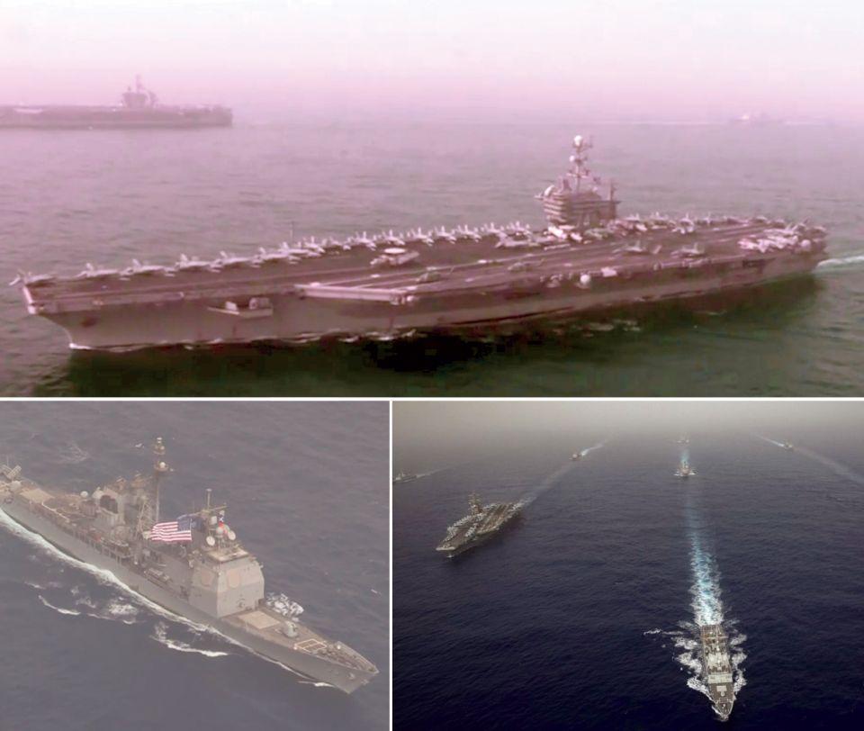 قدوم حاملات الطائرات الأمريكية إلى قبالة السواحل السورية
