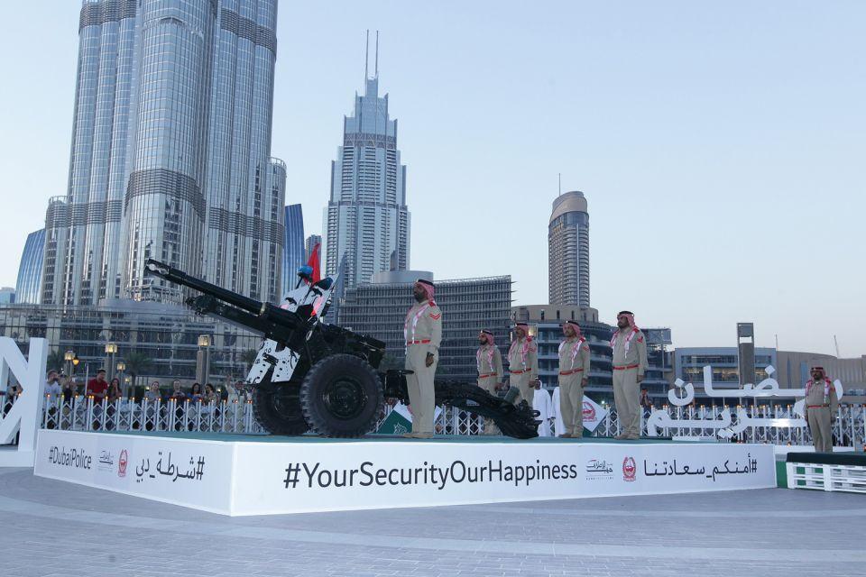 في 6 مواقع، مدافع شرطة دبي الرمضانية جاهزة لاستقبال الشهر الفضيل