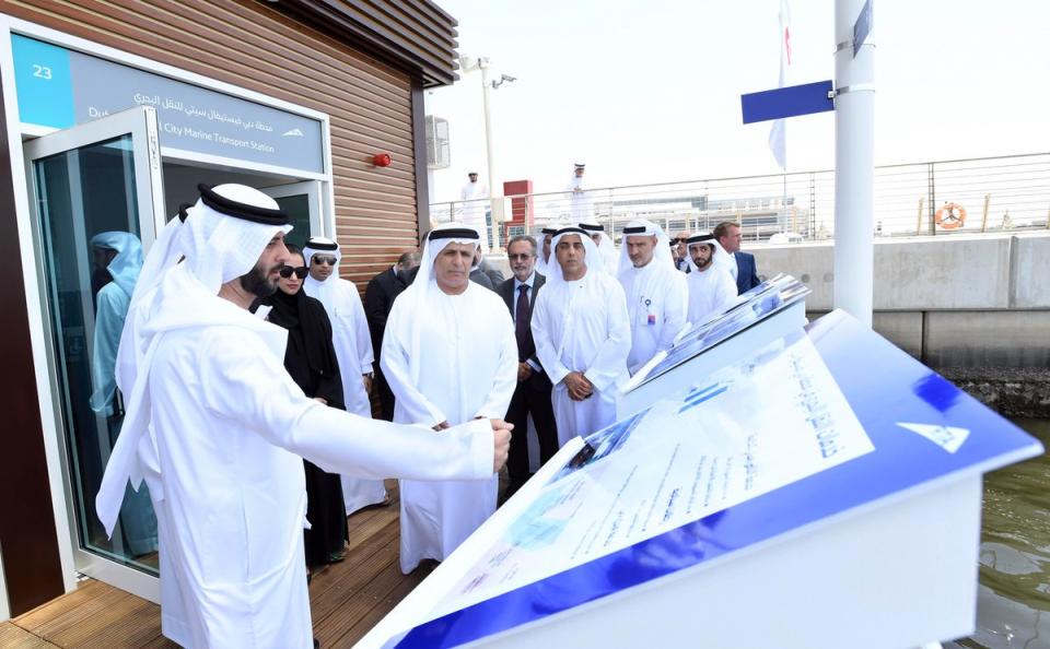 بالفيديو.. افتتاح المحطة العائمة الذكية للنقل البحري في دبي