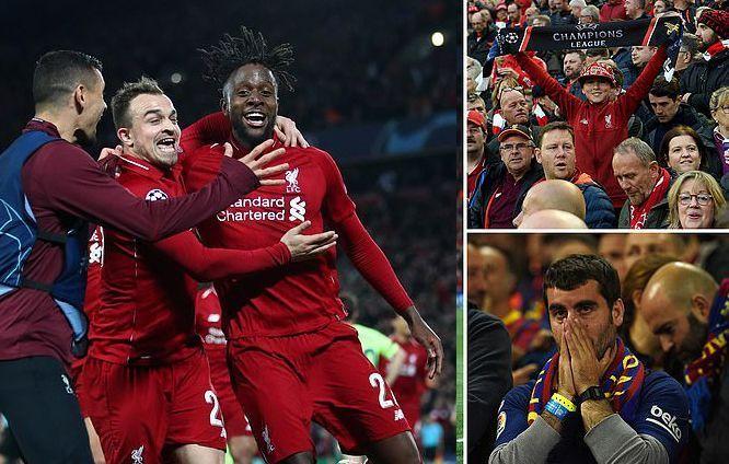 ليفربول يفعلها ويسحق برشلونة بأربعة أهداف ليصعد لنهائي دوري الأبطال