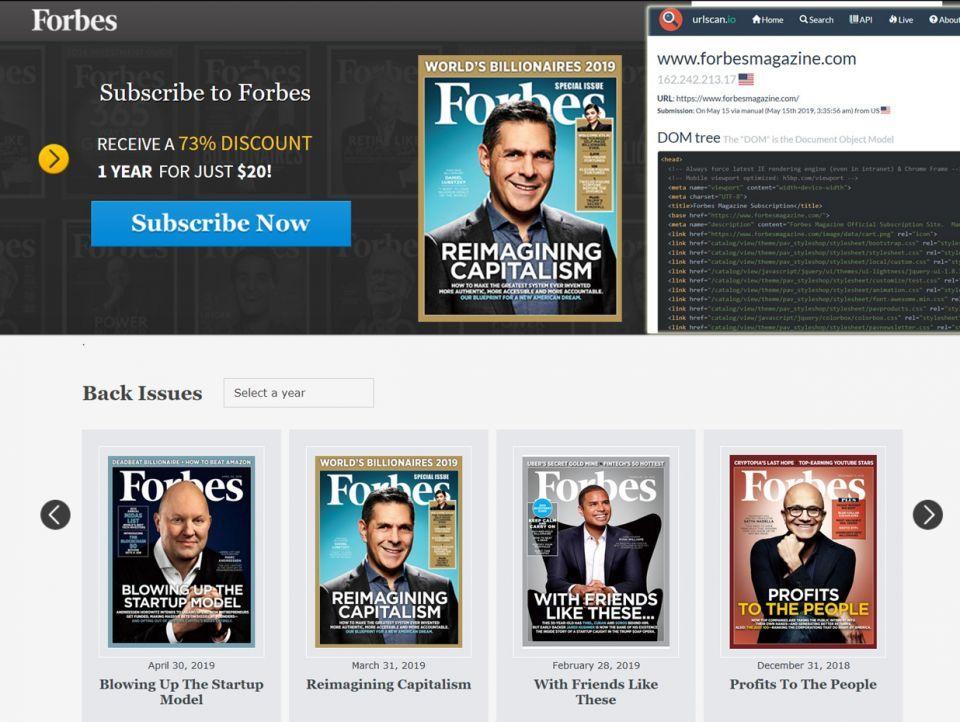 تعرض موقع مجلة فوربس لهجوم الكتروني لسرقة بيانات المشتركين