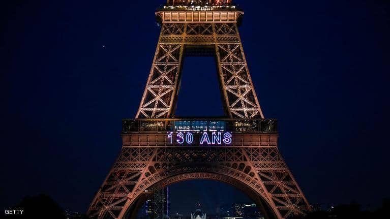 بالصور : برج إيفل يحتفل بعيده الثلاثين بعد المئة