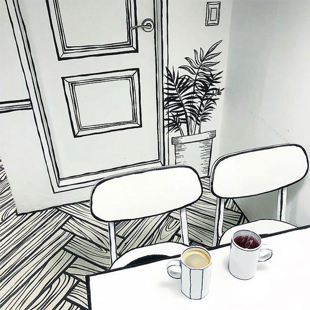 شاهد التصميم الفريد بقلم رصاص لمقهى في كوريا الجنوبية