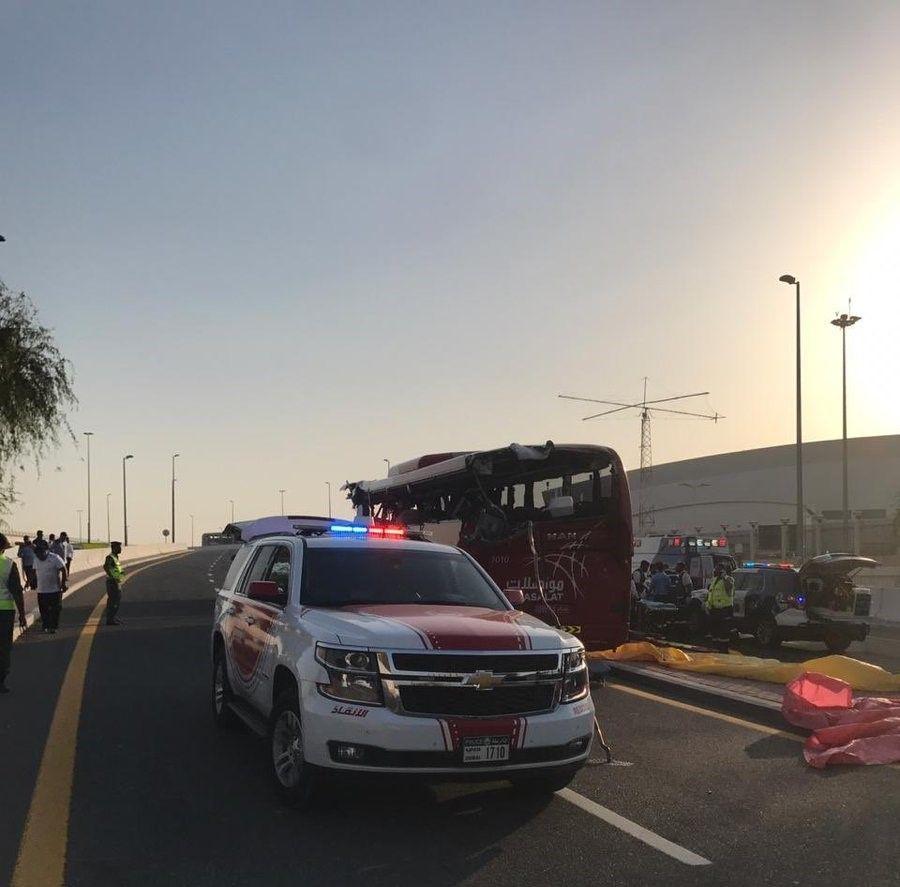 دبي: وفاة 15 شخصاً إثر حادث بليغ لباص يحمل أرقام سلطنة عُمان