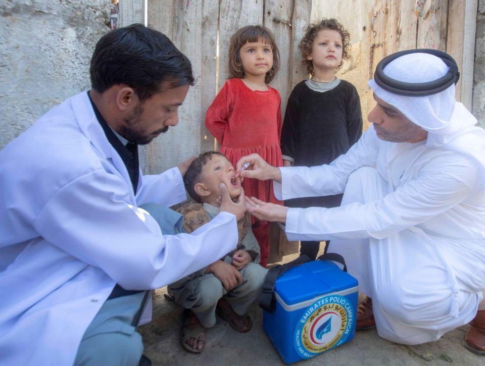 من الإمارات.. 407 ملايين جرعة تطعيم لأطفال باكستان ضد شلل الأطفال