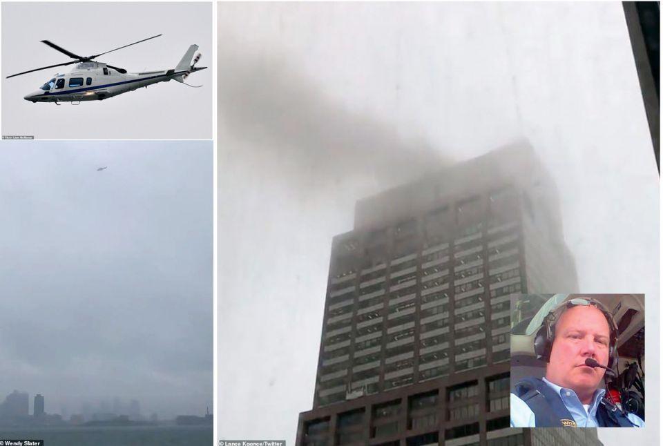تحطم طائرة هليكوبتر فوق ناطحة سحاب في مانهاتن ومقتل قائدها