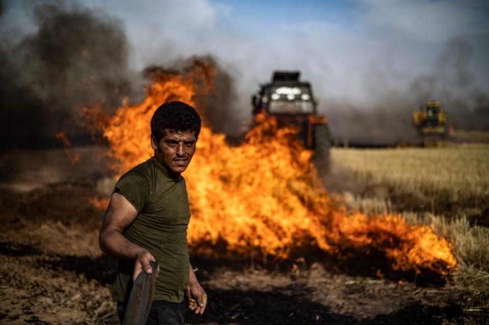 مقتل 10 في حرائق مفتعلة تفسد مواسم القمح والشعير الضخمة في سوريا