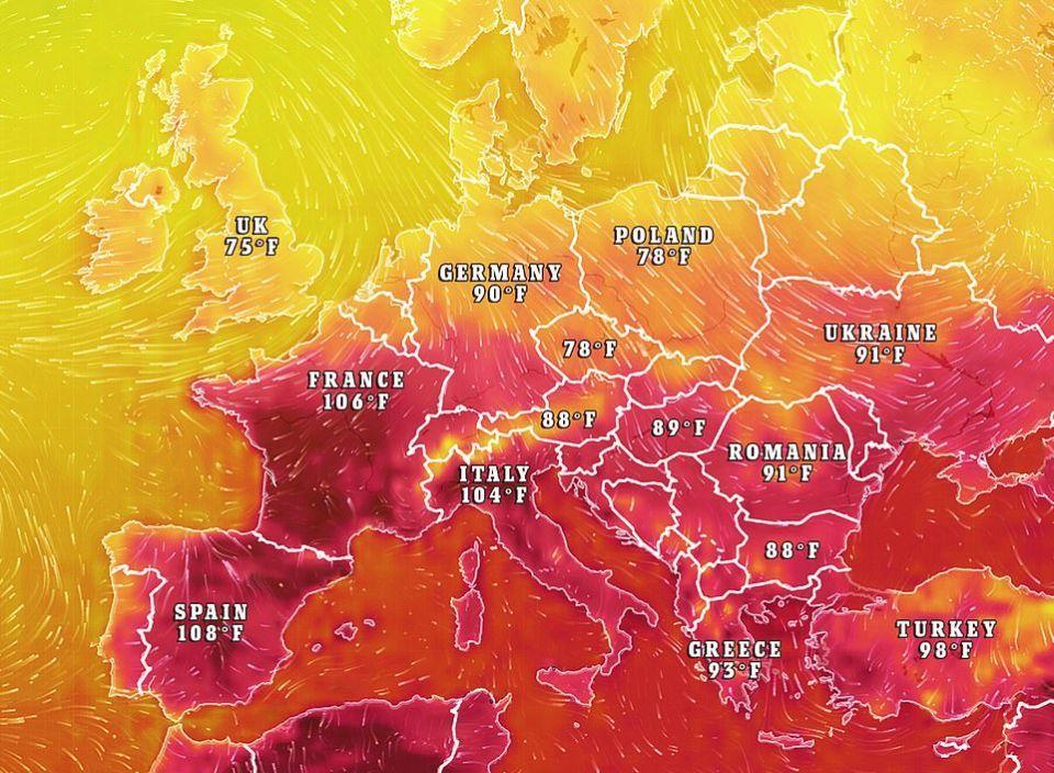 شاهد موجة حر تجتاح أوروبا بدرجات حرارة لم تشهدها منذ 70 عاما