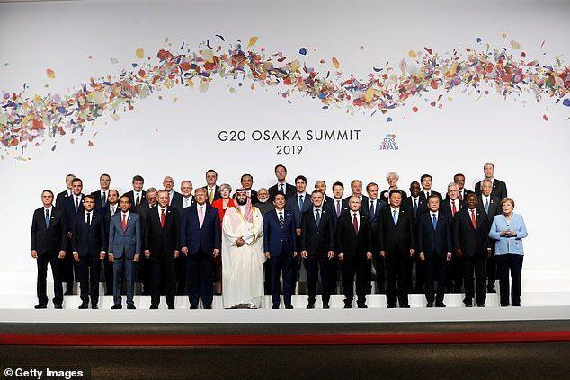 شاهد ولي العهد السعودي في قمة العشرين في اليابان