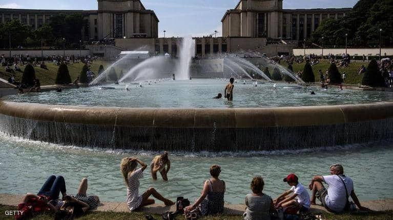 بالصور : موجة حر غير مسبقة تجتاح أوروبا