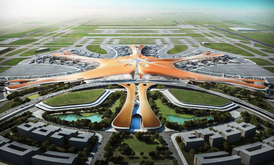 شاهد بالصور مطار ضخم من تصميم زها حديد