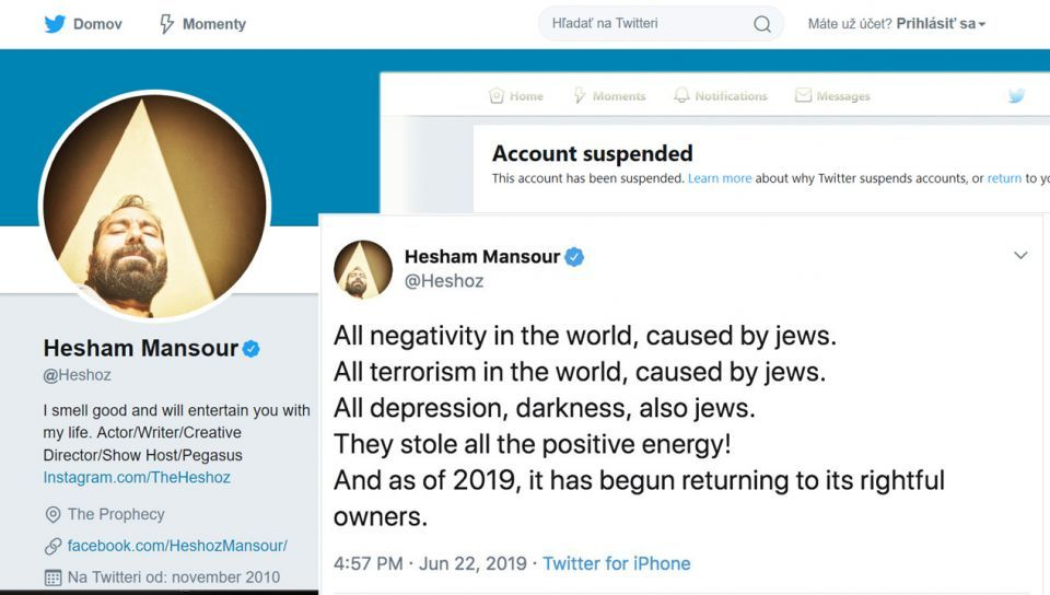 تويتر يَحذف حساب كاتب مصري ساخر هاجم اليهود