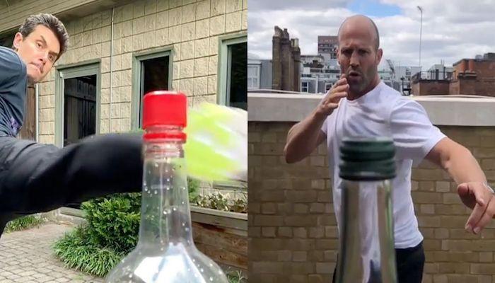 بالفيديو.. تحدي غطاء الزجاجة بركلة واحدة من طرف المشاهير