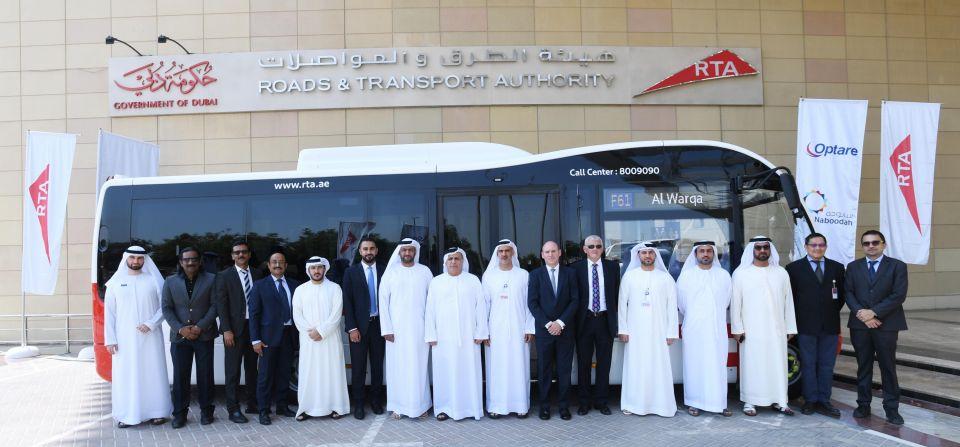 طرق دبي تُدشن تشغيل 94 حافلة متوسطة من نوع أوبتير