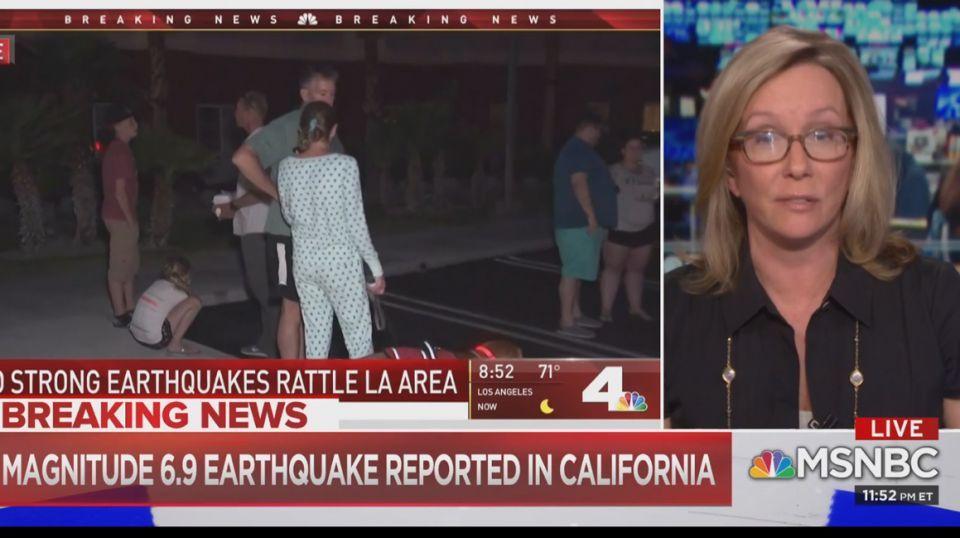 هزات متتابعة بينها زلزال قوي بشدة  7.1 يضرب ولاية كاليفورنيا