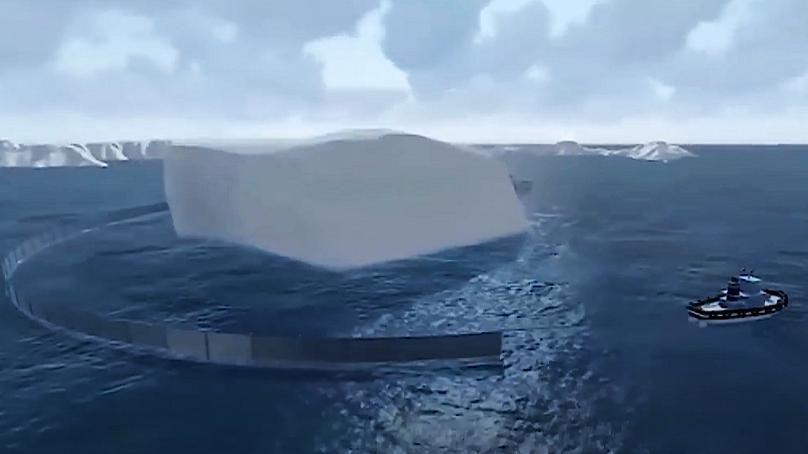 شاهد.. تفاصيل نقل جبل جليدي من القطب الجنوبي إلى الفجيرة