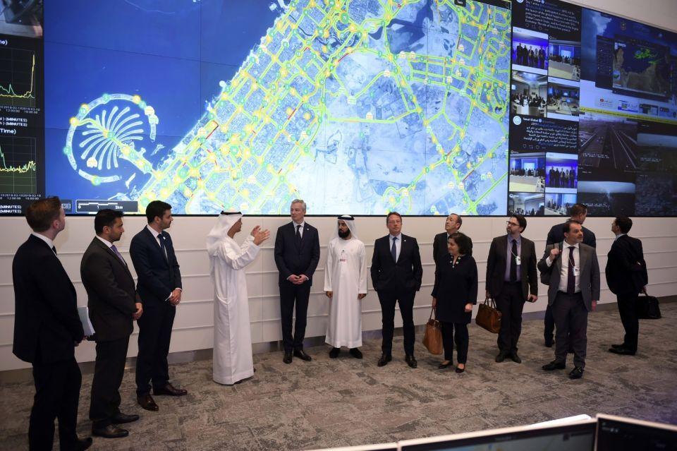 دبي: مركز التحكم الموّحد للنقل والطرق يستقطب اهتماما رفيع المستوى