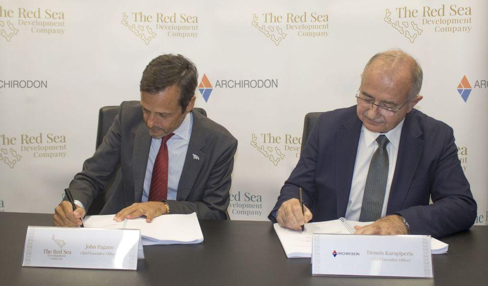 شركة البحر الأحمر للتطوير تبرم عقداً مع أركيرودون لتشييد البنية التحتية البحرية