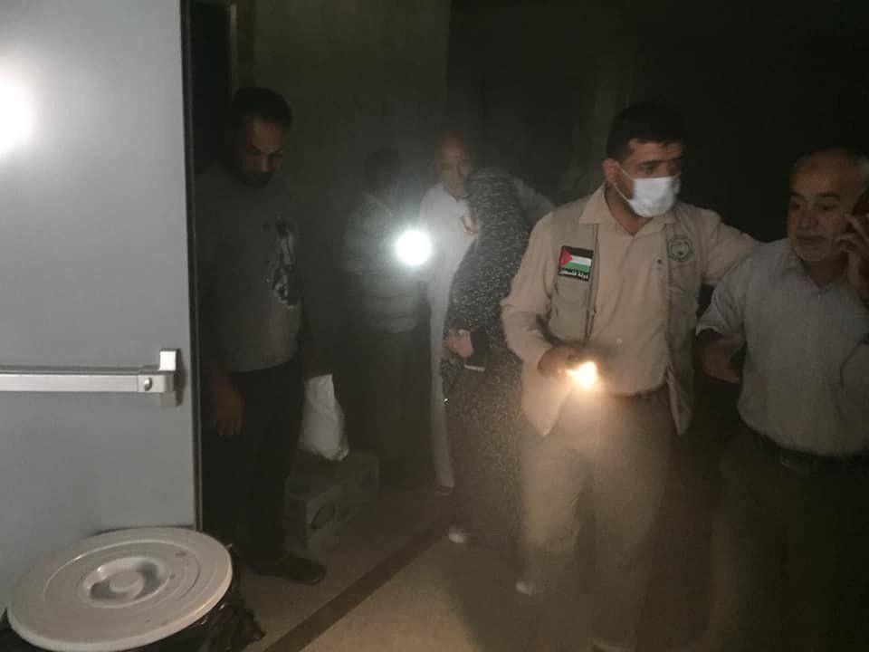 بالصور : حريق بفندق لحجاج فلسطينيين في مكة