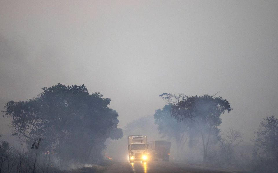 بالصور : حرائق جديدة في الأمازون
