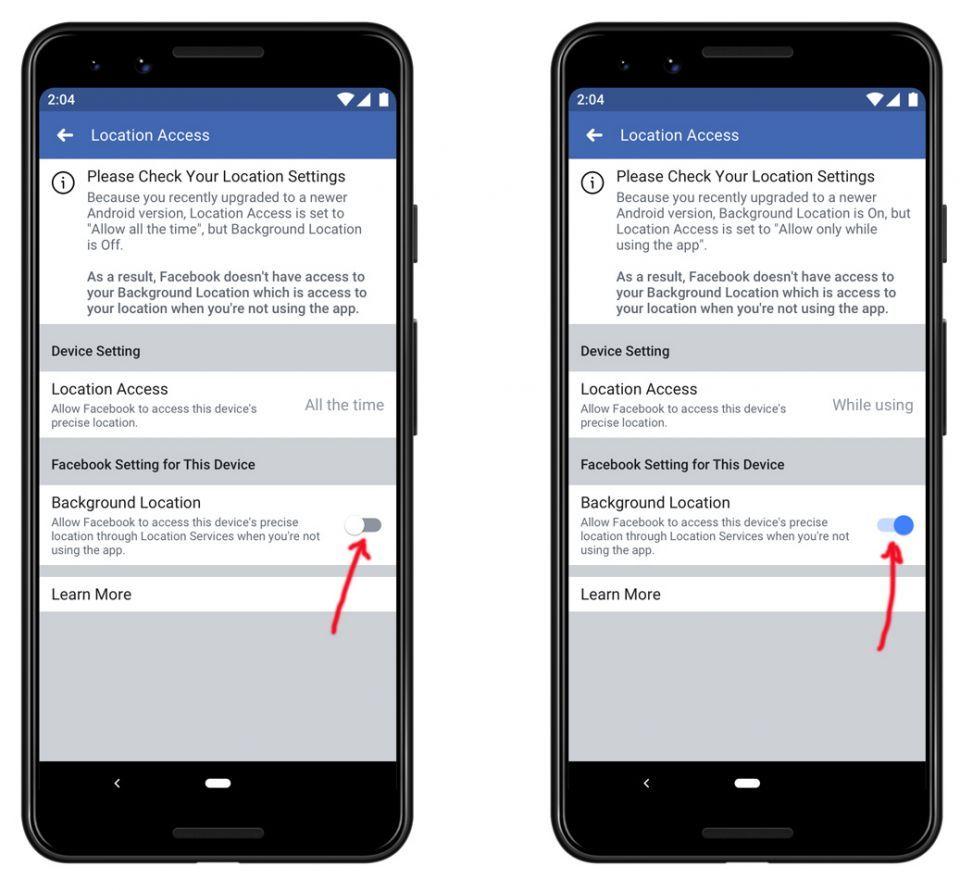 فيسبوك تحذر مشتركيها من عجزها على تحديد مكانهم بتحديثات أندرويد 100 و أ ي أو إس 13