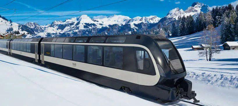 بالصور : القطار المثالي لاستكشاف جبال الألب من Pininfarina