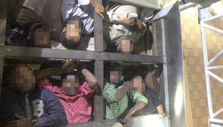 شرطة أبوظبي تحبط عملية تسلل عمال لداخل الإمارات عبر منفذ بالعين