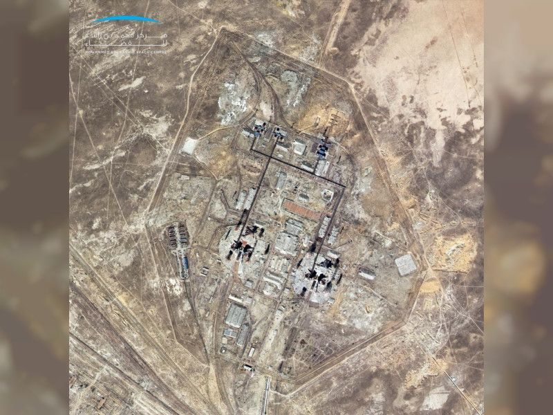خليفة سات يلتقط صورة عالية الوضوح لقاعدة بايكونور الفضائية في كازاخستان