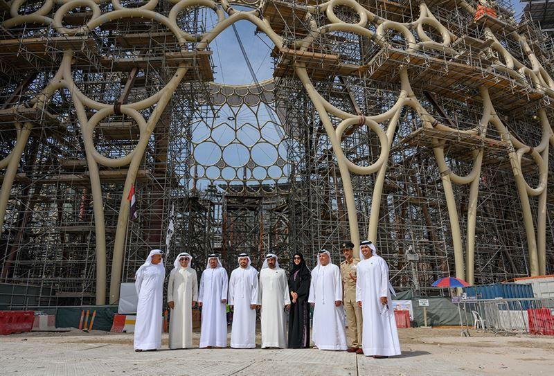شاهد.. تتويج قُبة ساحة الوصل يكلل جهود بناء أهم معالم إكسبو 2020 دبي