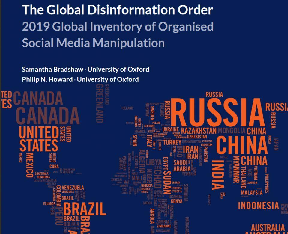 دراسة لأكسفورد: 70 دولة تشن حملات تضليل على الإنترنت
